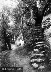St Asaph, steps to Cefn Caves c1875