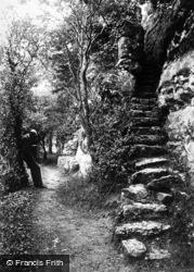 Steps To Cefn Caves c.1875, St Asaph