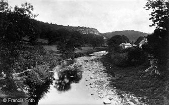 St Asaph, view from Pont Newydd, Cefn c1875