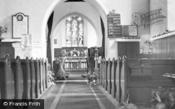 Parish Church Interior c.1955, St Athan