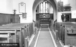 Parish Church Interior c.1960, St Athan