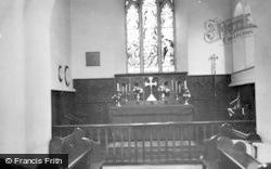 St Athan, Parish Church Interior c.1960
