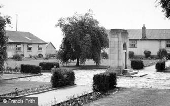 St Athan, the Boys Camp War Memorial and Huts c1955
