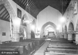 St Briavels, St Mary's Church, Interior c.1955