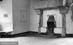 The Castle, Common Room Fireplace c.1955, St Briavels