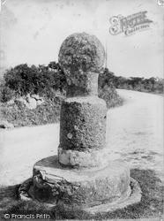 St Buryan, Old Wayside Cross c.1890