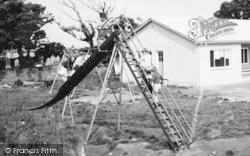 St Buryan, Playing Field, Children On The Slide c.1960