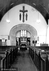 St Clears, St Mary's Church Interior c.1960