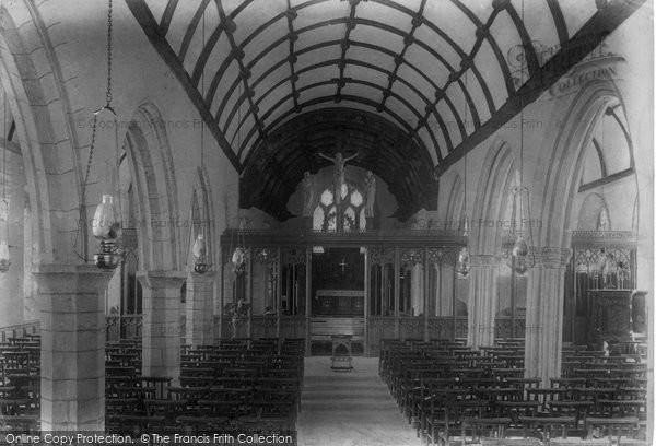 St Cleer, Church interior 1906