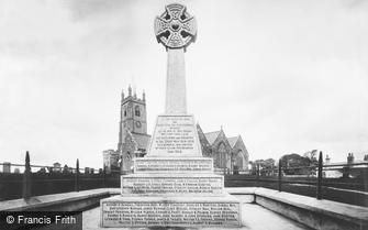 St Columb Major, Parish Church and War Memorial 1922