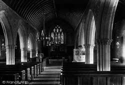 The Church, Interior 1904, St Columb Minor