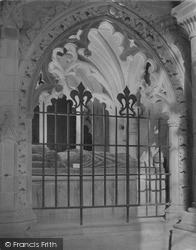 Cathedral, Bishop Gower's Tomb c.1960, St Davids