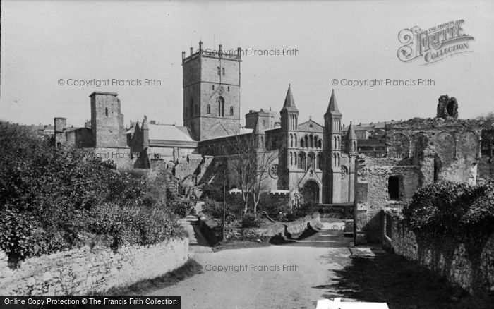 Photo of St Davids, Cathedral From The West c.1950