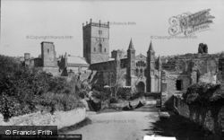 Cathedral From The West c.1950, St Davids