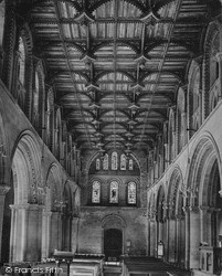 Cathedral, Roof Of Nave c.1960, St Davids