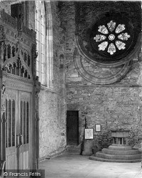 Cathedral, West End Of Nave, South Aisle c.1960, St Davids