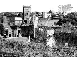 The Cathedral And Bishop's Palace c.1960, St Davids
