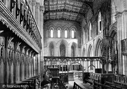 The Cathedral, The Choir Looking East 1890, St Davids