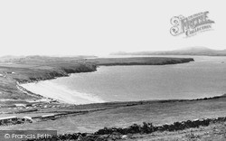 Whitesands Bay And Ramsey Island c.1960, St Davids