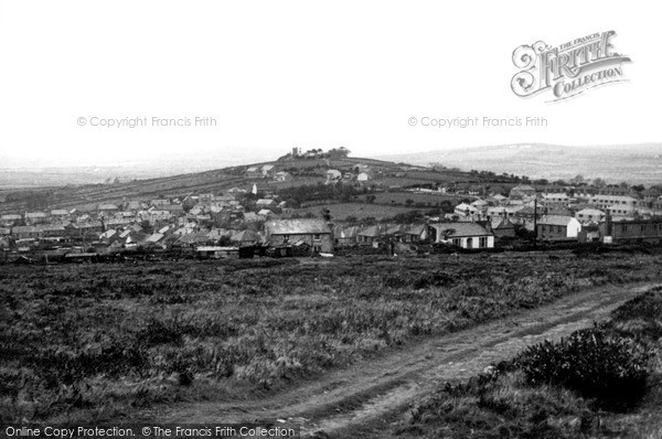 St Dennis, view from Trelavour Downs c1960