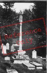 St Donats, Churchyard, Old Cross 1910, St Donat's
