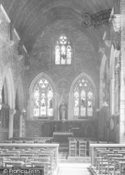 St Germans, Church Interior 1907