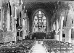 St Germans, Church Interior 1907