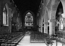 St Germans, Church Interior 1920