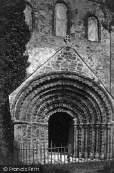 St Germans, Port Eliot, Norman Doorway Of Church Porch c.1876