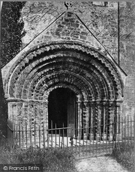 St Germans, Port Eliot, The Church Porch c.1875