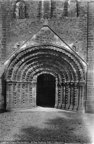 Photo of St Germans, The Church Porch, Norman Door 1890