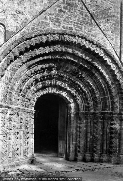 Photo of St Germans, The Church Porch, Norman Doorway 1890