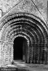 St Germans, The Church Porch, Norman Doorway 1890