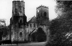 St Germans, The West Front And Towers c.1955