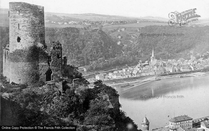 Photo of St Goar, The Katz And Rheinfels c.1878