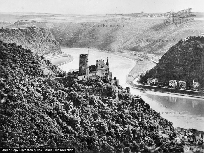 Photo of St Goar, View Of Burg Katz And The Lorely c.1930