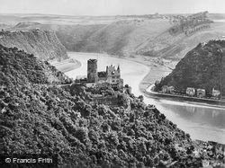 View Of Burg Katz And The Lorely c.1930, St Goar
