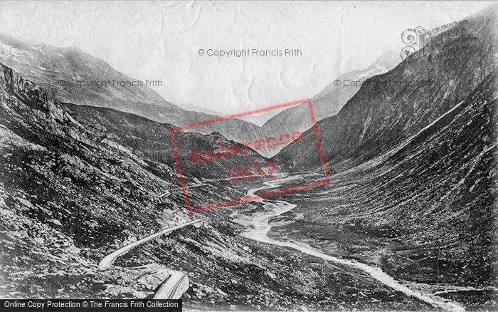 Photo of St Gotthard Pass, Desolation Valley c.1875