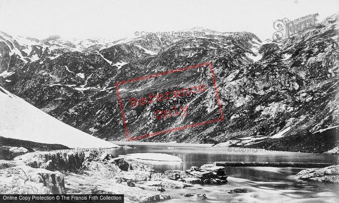 Photo of St Gotthard Pass, Lucendro Lake c.1870