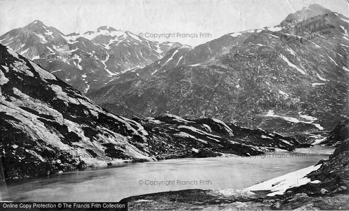 Photo of St Gotthard Pass, Lucendro Lake c.1875