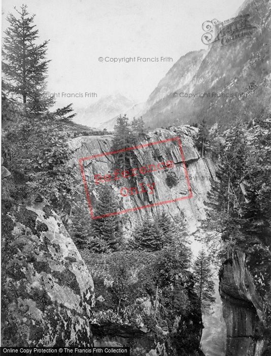 Photo of St Gotthard Pass, View On The Road c.1860