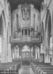 St Ives, All Saints Church, Rood Screen And Organ Case 1925