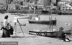 St Ives, An Artist c.1947