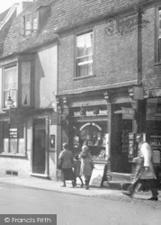 St Ives, Bridge Street, The Globe And The Newsagent 1931