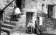 St Ives, Fishermen's Quarters, Back Road East 1906
