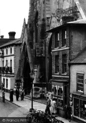 St Ives, In Front Of The Free Church c.1955