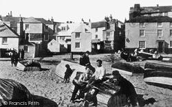 On The Beach c.1900, St Ives