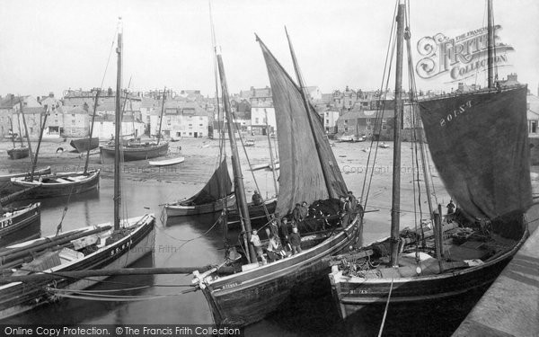 St Ives, Pilchard Boats 1908