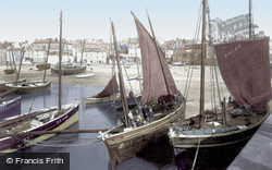 Pilchard Boats 1908, St Ives