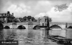 River Ouse And Bridge c.1955, St Ives